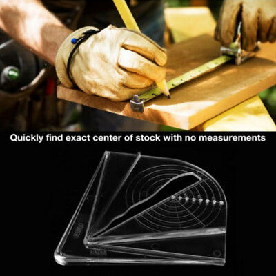 Woodworking Plastic Center Finder Measurement Layout Tools For Square Octagon