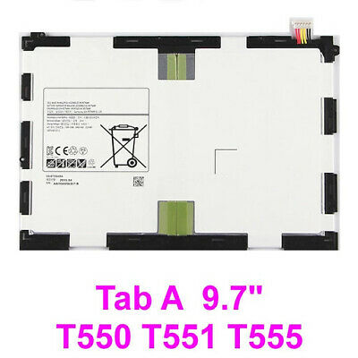 "For Samsung Galaxy Tab A 9.7"" Battery Genuine T550 T555 P550 EB-BT550ABE 6000mAh"