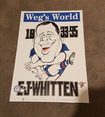 Ej Ted Whitten Tribute Weg Poster Limited Edition - Footscray Bulldogs Very Rare