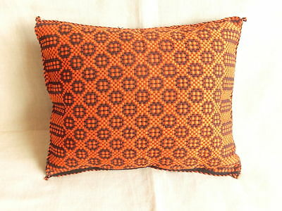 "ANTIQUE Balkans Folk Art > Hand Woven Pillow Cover 15.15"" x 12"" GNG-"