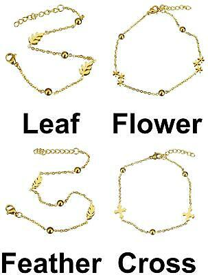 1pc Gold Color Plated Oval Chain Metal Bracelet Base With Extender Chain Jewelry