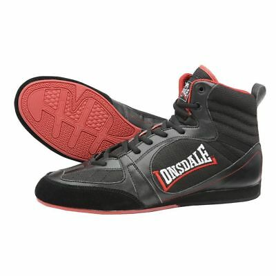 Lonsdale Mitchum Widmark Boxing Boots Retro - Black Red - Junior