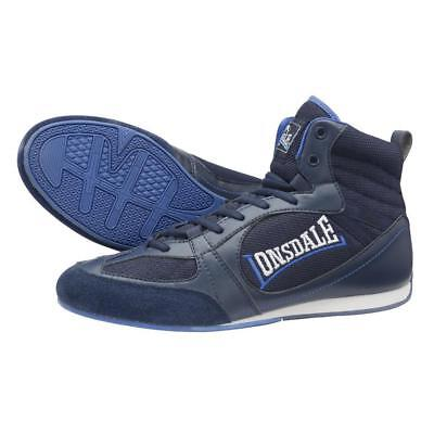 Lonsdale Mitchum Widmark Boxing Boots Retro - Navy/Blue - Junior