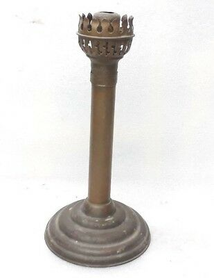 Antique Old Brass Push-Up Candle Holder Stick Lamp Light Candlestick