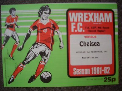 1981/82...WREXHAM  v  CHELSEA....F.A. Cup, 4th Round, (2nd Replay)...V.G.C.