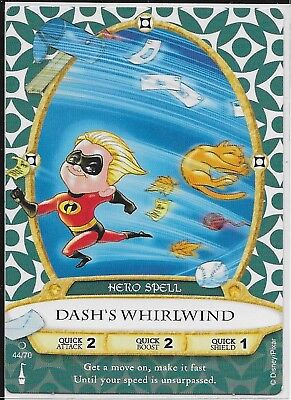 Disney Sorcerers of the Magic Kingdom Card 44 Dash's Whirlwind