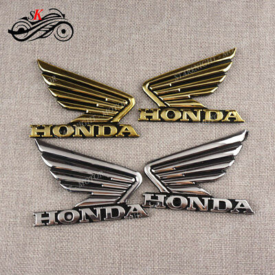 3D Tank Pad Wing Fairing Emblem Decal Sticker For HONDA CB1000R CBR600RR 300RR