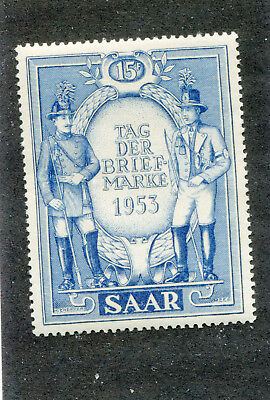 erman,Germany,Stamps. French Saar # 247   M/H    No Faults