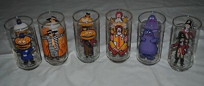 Lot Of 6 Vintage Mcdonalds Collectors Series Glasses