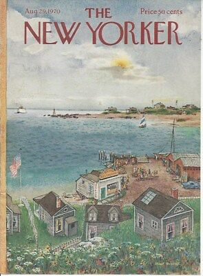 COVER ONLY ~ The New Yorker magazine ~ August 29 1970 ~ HUBBELL ~ Harbor village