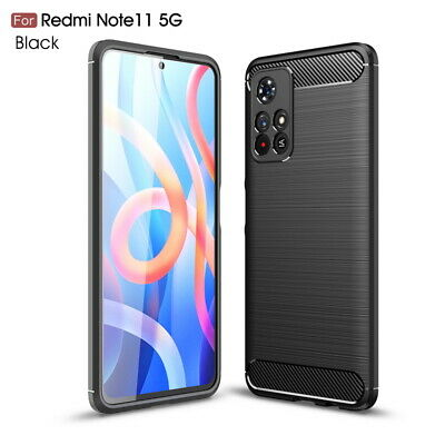 Luxury Bumper Brushed Carbon Fiber Back Rubber Silicone Soft Phone Case Cover