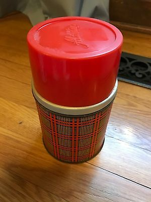 Vintage Alladin Best Buy Wide Mouth 10 oz Plaid Thermos Bottle