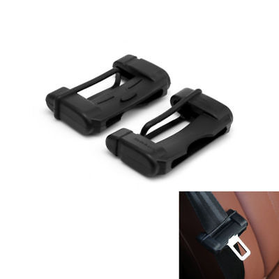 2X Car Safety Covers Anti-Scratch Interior Protector Silicon Seat Belt Buckle