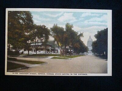 Fred Harvey # 1998 Topeka KS; Harrison St. with State Capitol in the Distance