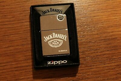 Zippo 250 JD Jack Daniels Polished Chrome New in Mint Condition Never Fired