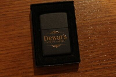 Zippo 218 Dewar's Never Varies Black Matte New in Mint Condition Never Fired