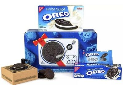 Oreo Music Box Cookie Record Player Collectible Holiday Gift Tin Rare Sold Out