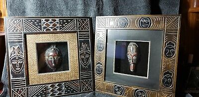 African mask in shadow box