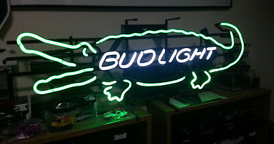 280c59dadf BUDWEISER BUD DRY Cold Filtered Draft Pouring Beer Sign Light Man ...
