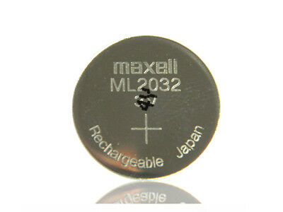 Maxell ML2032 3V ladbare Knopfzelle ersetzt CR2032 BIOS Batterie Rechargeable 10