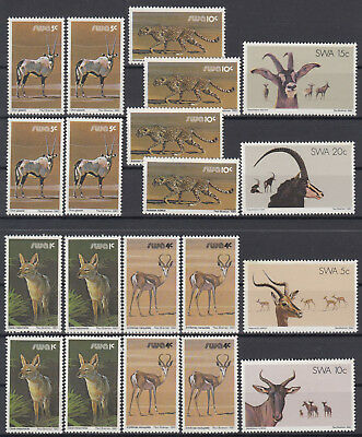 SWA South West Africa 1980 ☀ Fauna / Mammals of wild animals ☀ 20v MNH stamps
