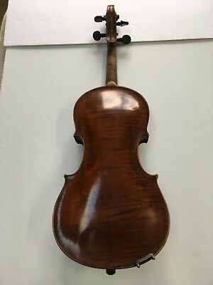 Vintage Old Violin - 1928 Geo Lejko - Cleveland, Ohio - For Parts Or Repair