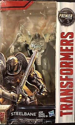 Transformers Premier Edition The Last Knight Deluxe Steelbane Action Figure New!