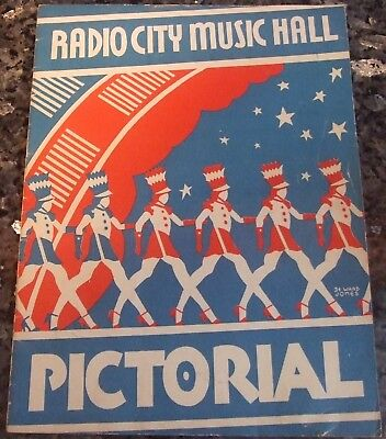 Late 1940s Radio City Music Hall Pictorial Program featuring The Rockettes