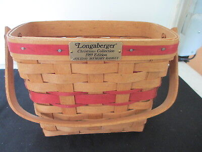 Longaberger 1989 Christmas Collection Holiday Memory Basket