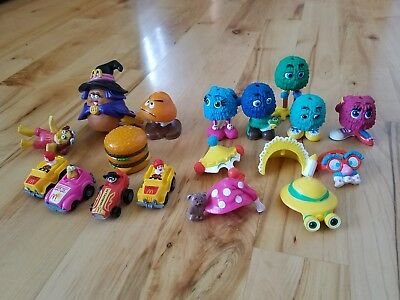 McDonald's Happy Meal Fry Guys Vintage 1989 LOT Nugget Transformer Cars Figures