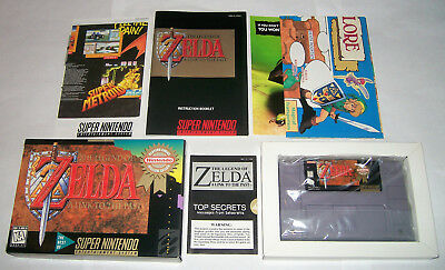Legend of Zelda Link to the Past (Super Nintendo 1996) CIB! Players Choice! SNES