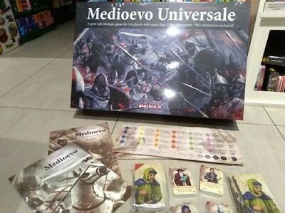 MEDIOEVO UNIVERSAL epic miniatures game 700 miniatures Italian English