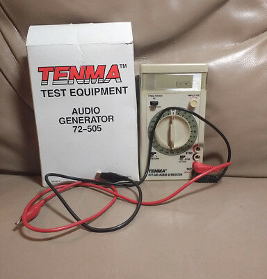 Tenma 72-505 Hand Held Audio Generator with Box - Tested