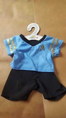 New with tag Build a Bear Star Trek Spock bear blue uniform