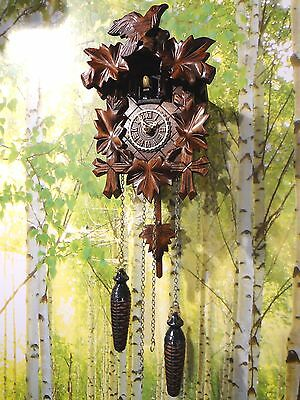 cuckoo clock germany black forest quarz  quartz new battery operated wood