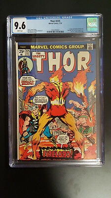 Thor 225 7/74 Cgc 9.6 1St App Of Firelord Hercules Destroyer