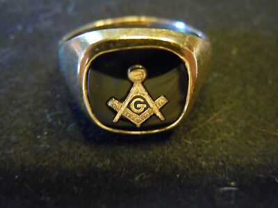 10K Gold Masonic Ring Mason 5.7 grams Size 10