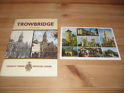 Trowbridge Wiltshire County Town Official Guide - Multi View Postcard