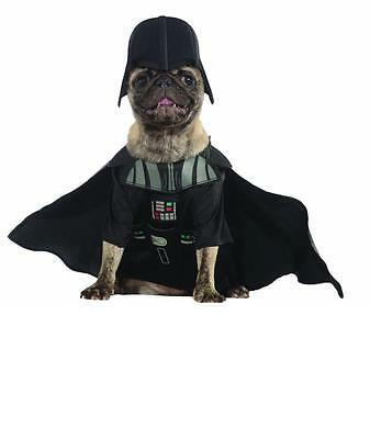 NEW DARTH VADER STAR WARS DISNEY HALLOWEEN pet DOG CAT COSTUME XL