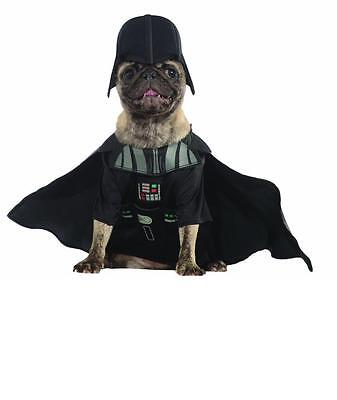 NEW DARTH VADER STAR WARS DISNEY HALLOWEEN pet DOG CAT COSTUME L
