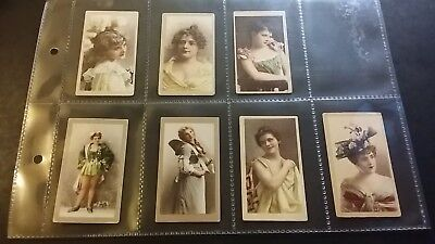 """1901 The American Tobacco Co. """"beauties"""" X7"""