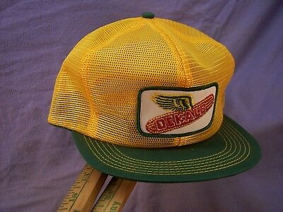 Vintage Dekalb Hat K Brand Usa Mesh Trucker Snap Back Nos Unused Nice