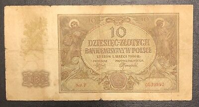 POLAND 10 Zlotych, 1940, P-94, World Currency