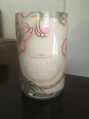 New/never used Recycled Perrier Jouet Champagne Bottle Candle