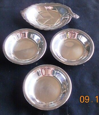 """Silverplate International #348 8"""" Oval Dish and 3 Reed & Barton 6"""" Candy Dishes"""