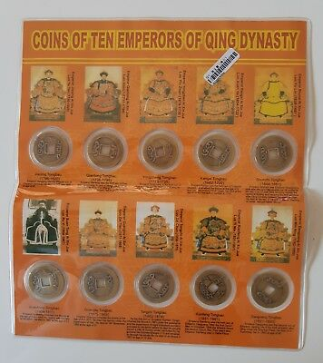 Qing Dynasty..250 Years...10 Coins/emperors