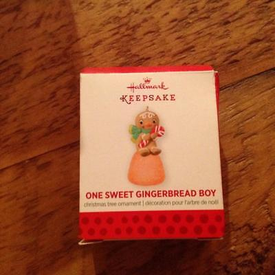 Hallmark Keepsake Miniature Ornament 2013 One Sweet Gingerbread Boy Gumdrop NIB
