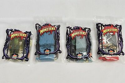 1997 MONSTERS Burger King Complete Set of 4 - New Sealed
