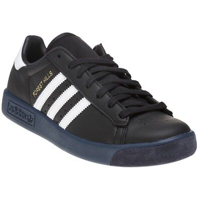 New Mens adidas Black Forest Hills Leather Trainers Retro Lace Up