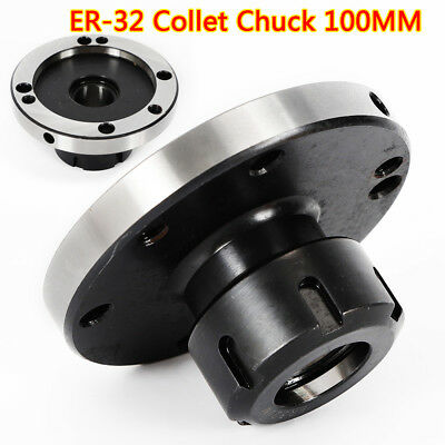 ER-32 Collet Chuck 100MM DIAMETER Compact Lathe Tight Tolerance For Milling TOP